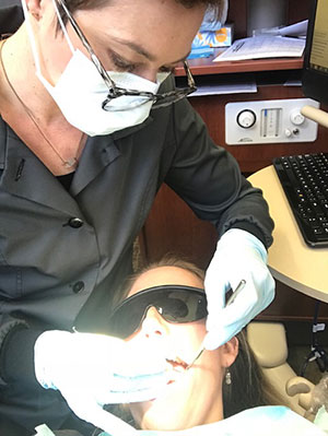 Dental Hygienist at Work